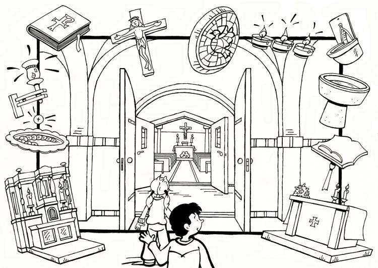 kleurplaat samen kerk kidkleurplaat nl